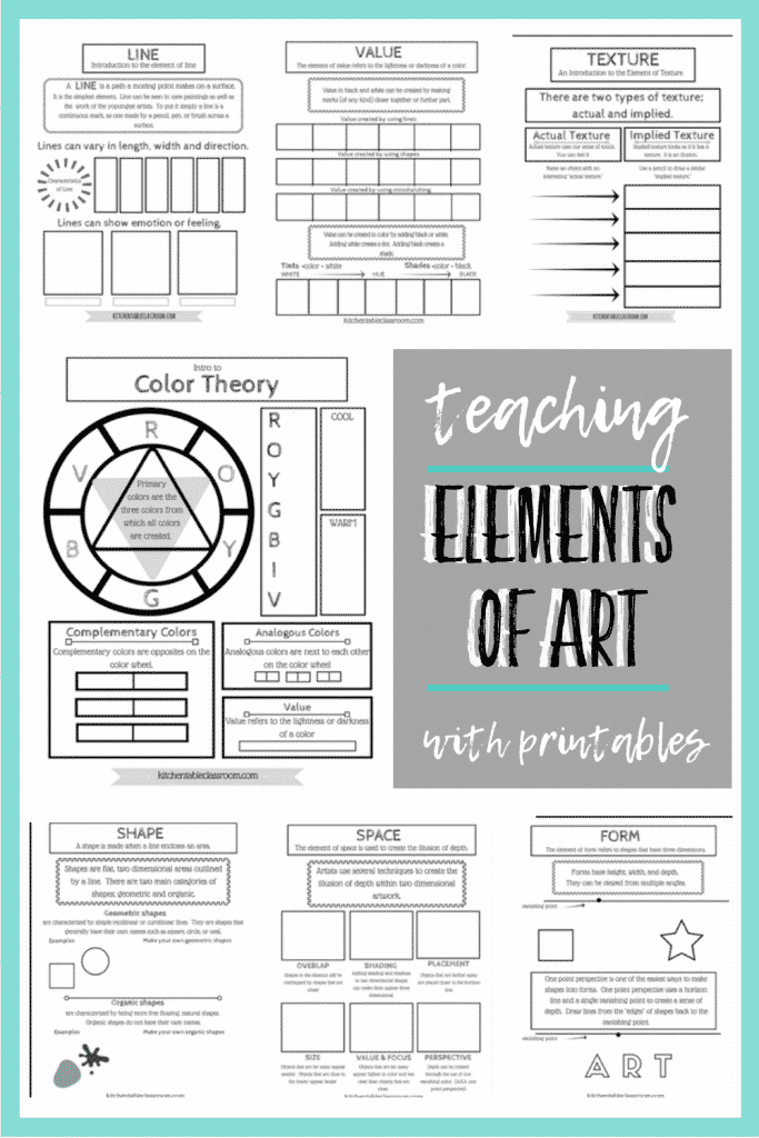 printable pages about the elements of art