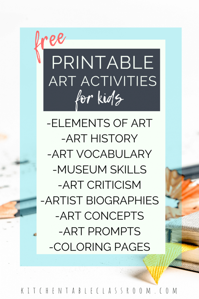 free printable art resources for kids