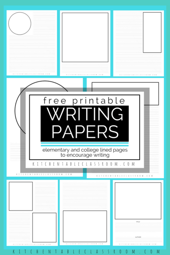 Printable writing prompts- free printable write and draw paper with elementary and middle school lines