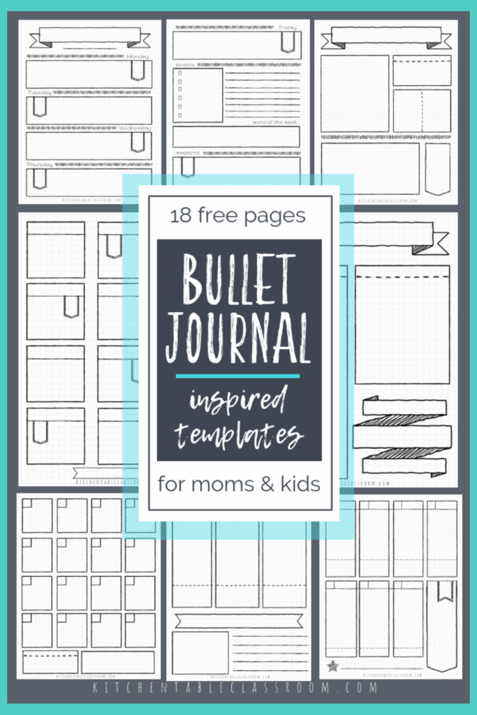 Printable writing prompts for kids- printable bullet journal templates