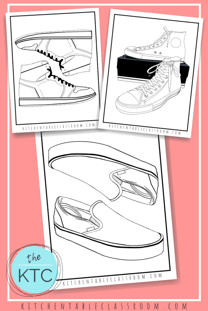 Design Your Own Shoe Coloring Pages The Kitchen Table Classroom