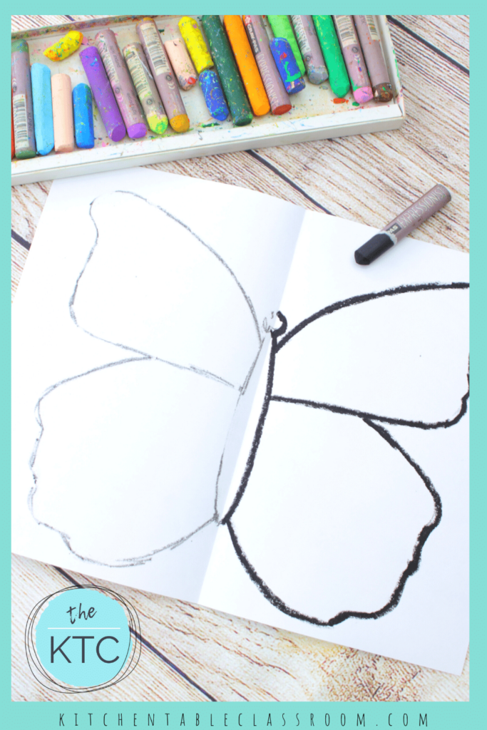 Draw a symmetrical butterfly with this easy transfer method.