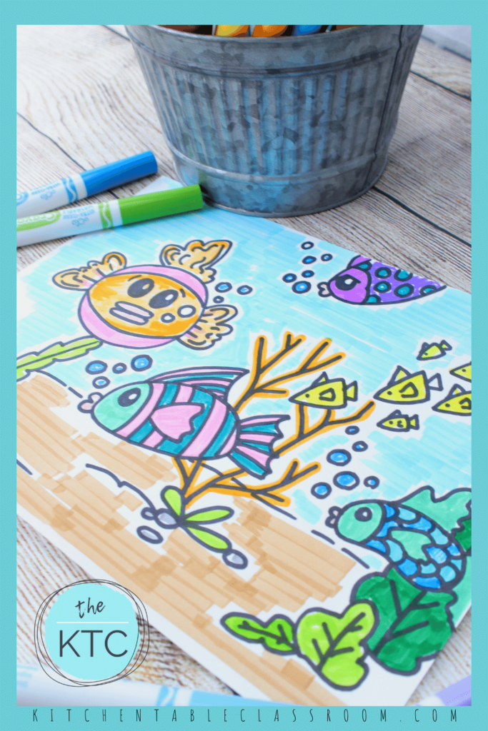 Learn how to draw a fish with markers with this free video art lesson