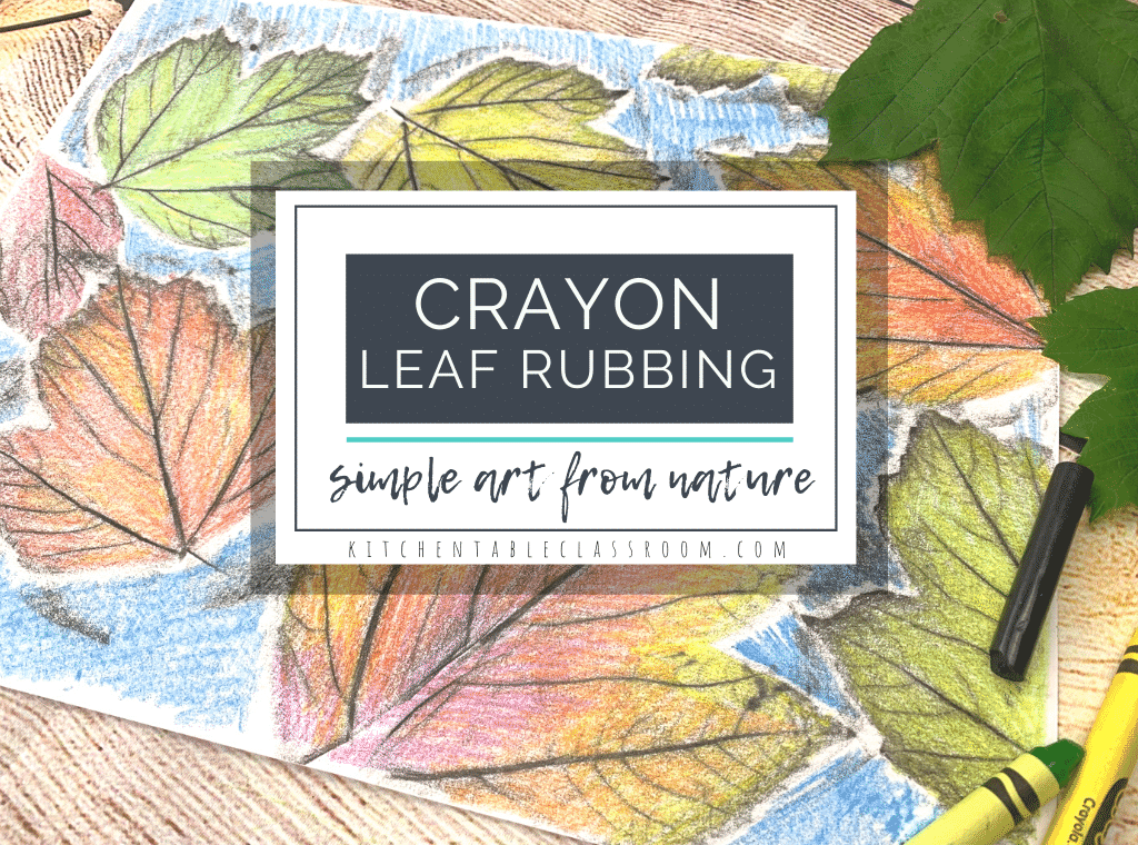 crayon leaf rubbing