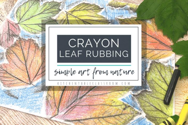 crayon leaf rubbing