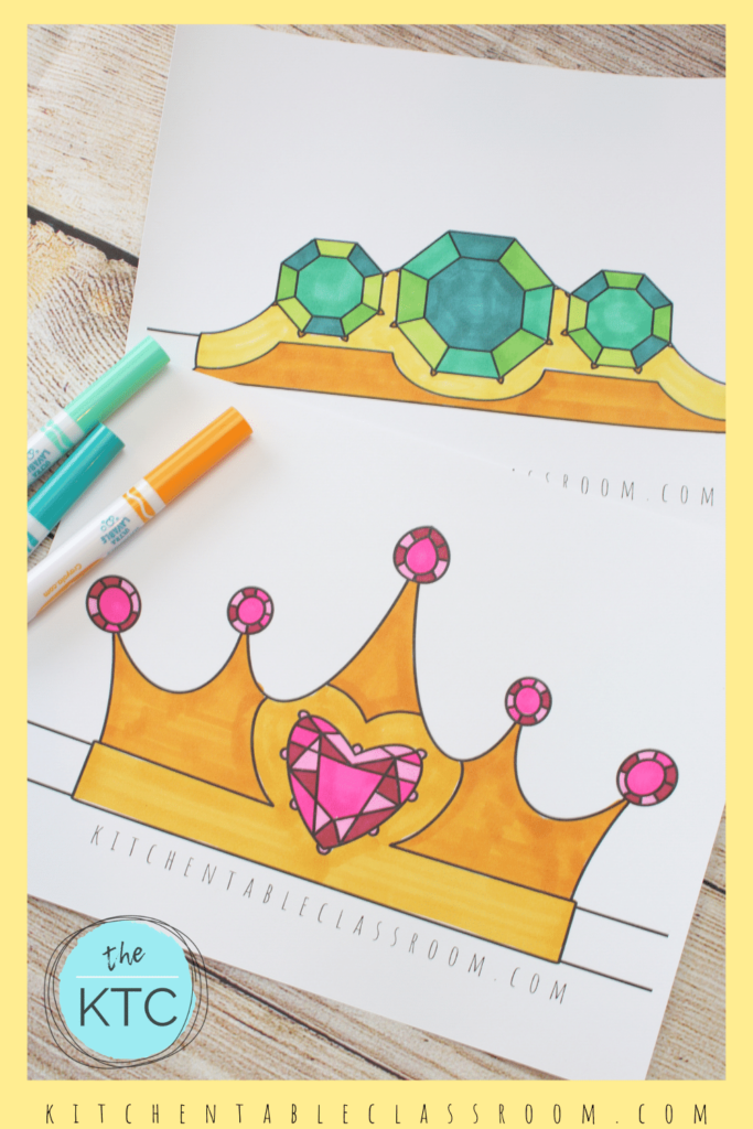 color your own crown template