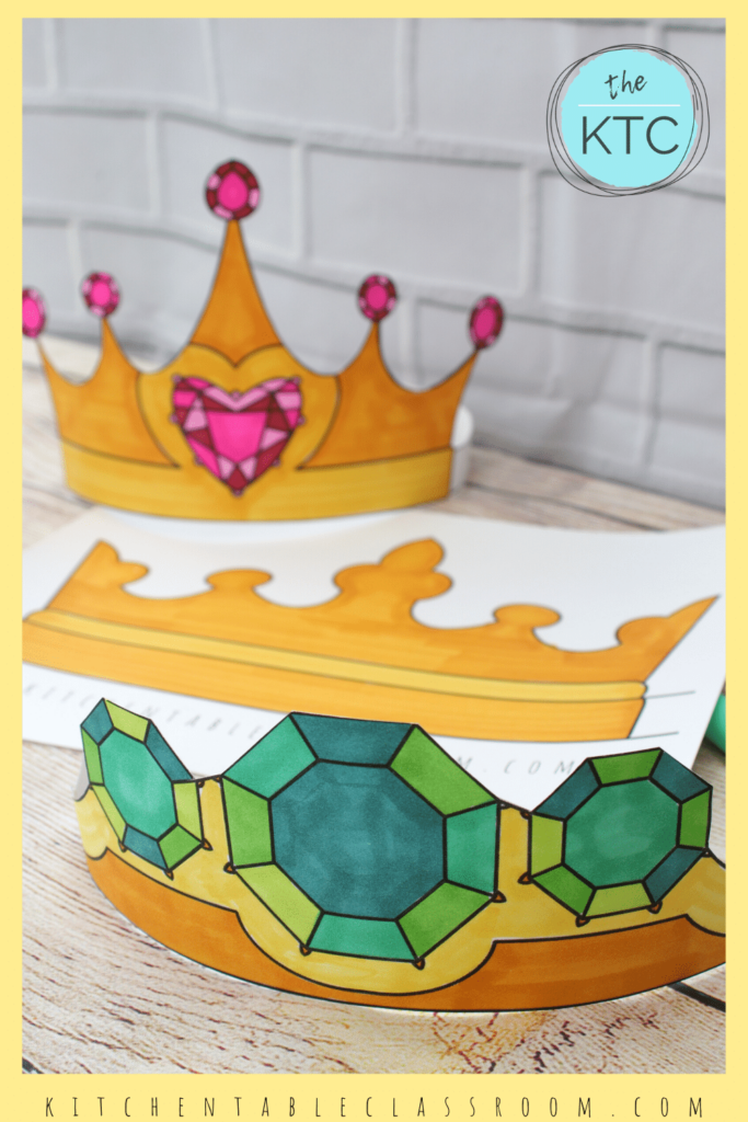 printable crown templates with jewels
