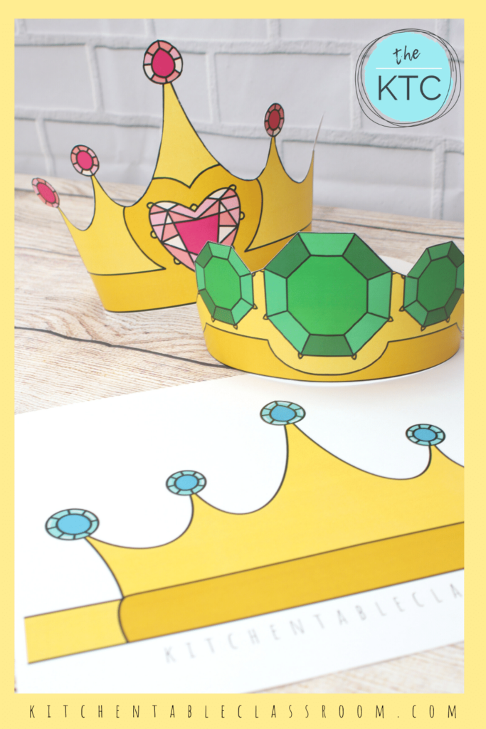 full color printable crown templates