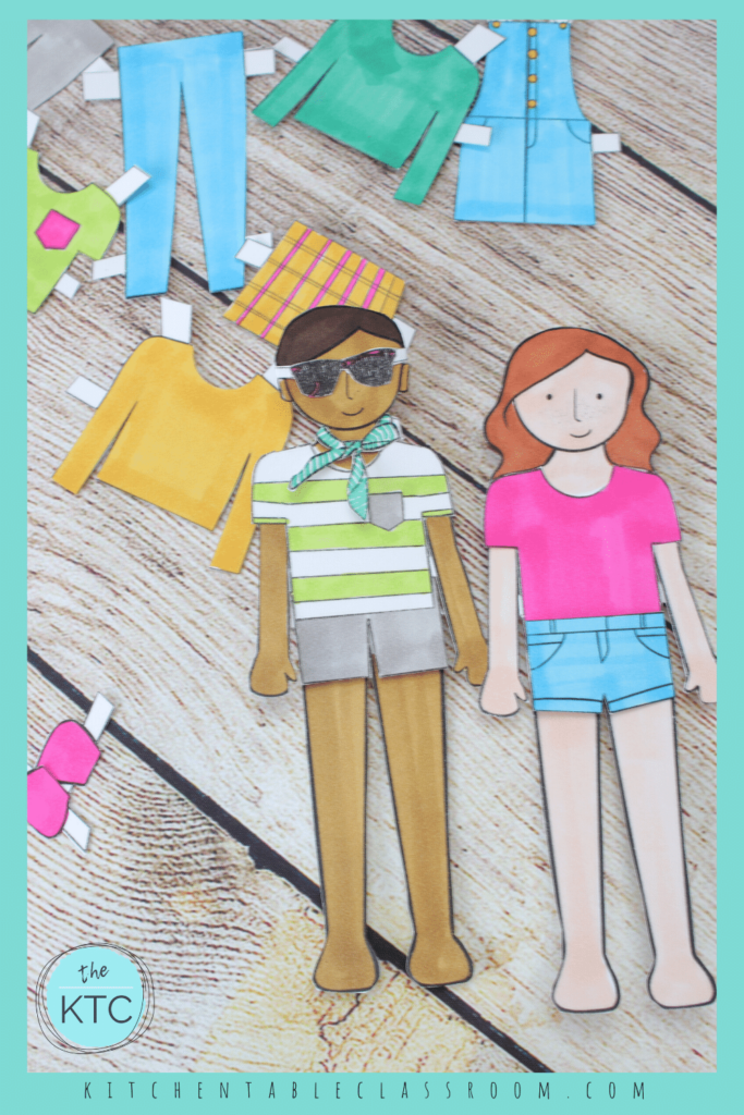 printable paper dolls and accessories for boy or girl