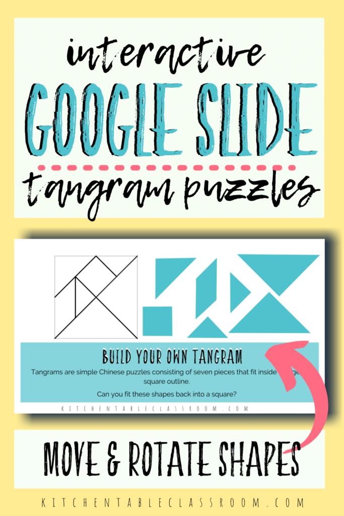 digital tangram puzzle on Google Slides