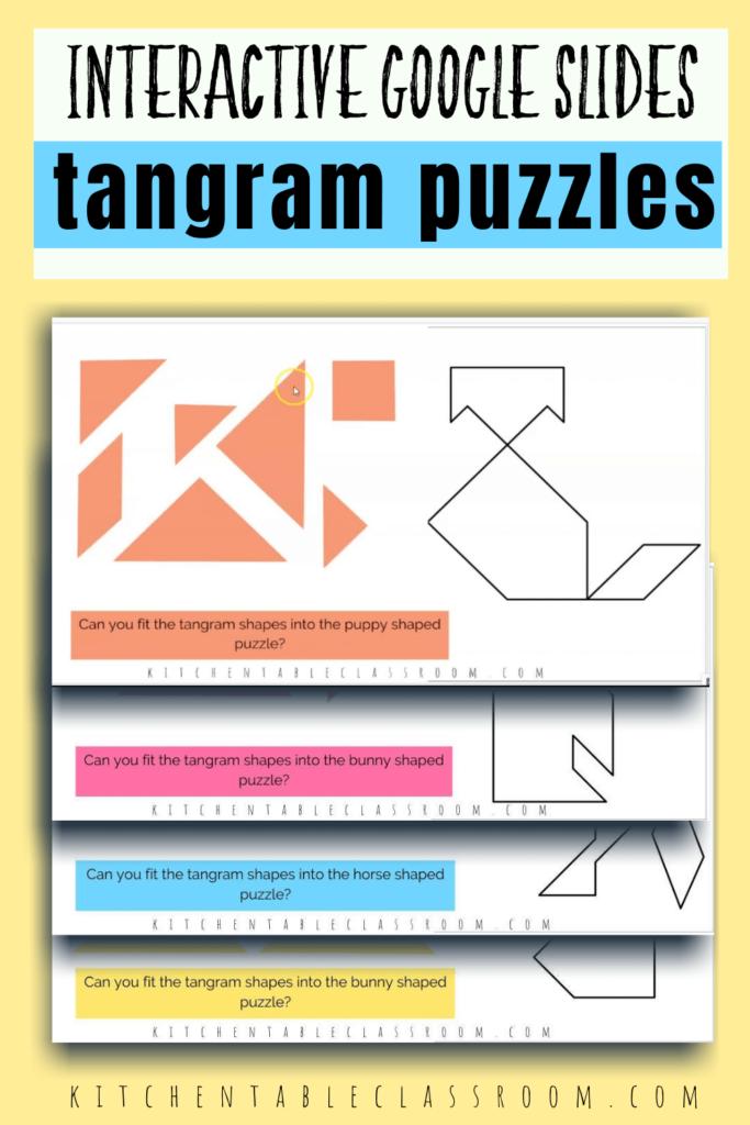 online tangram puzzles on Google slides
