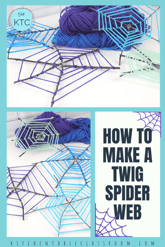 Use colorful yarn and twigs as you learn how to make this spiderweb craft.