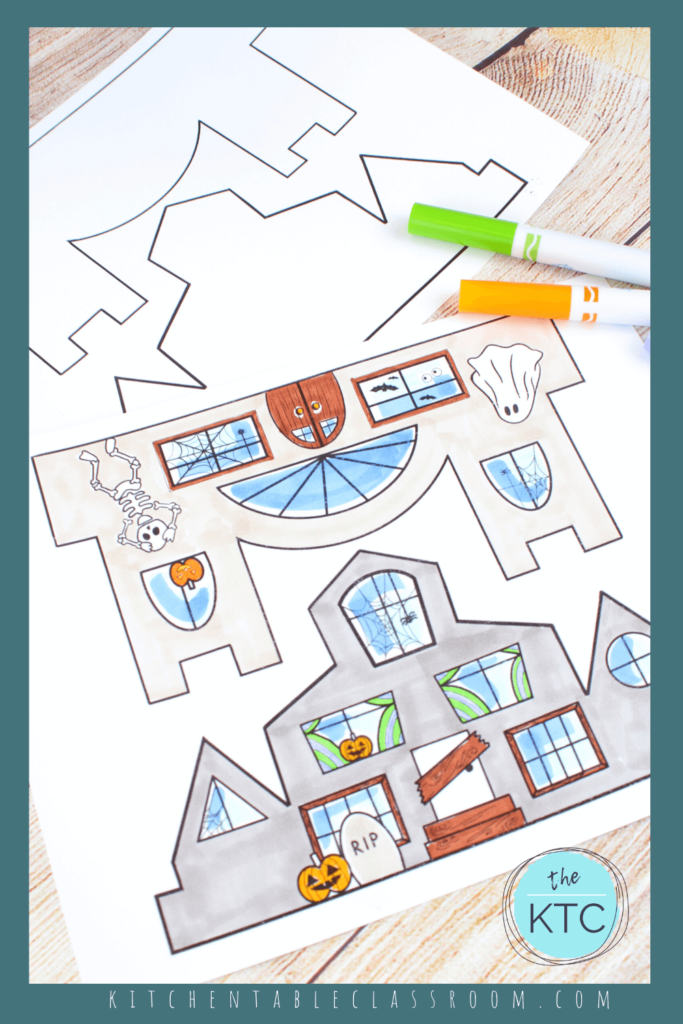 Haunted house printable for kids -Halloween craft