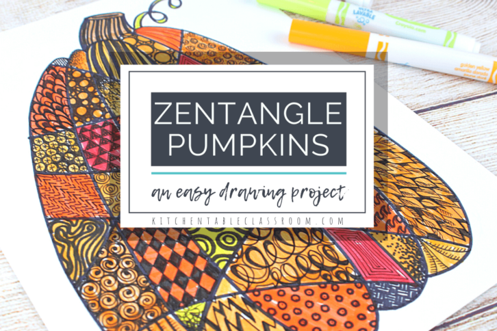 Learn how to make a zentangle pumpkin drawing with just markers!