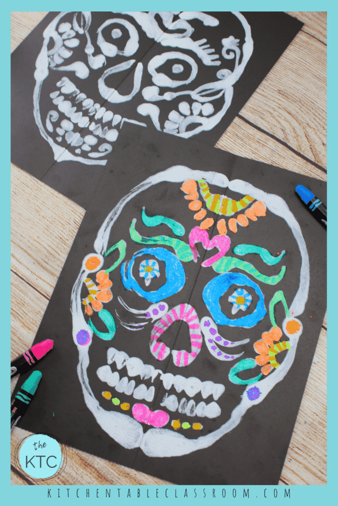 Add color to you sugar skull painting