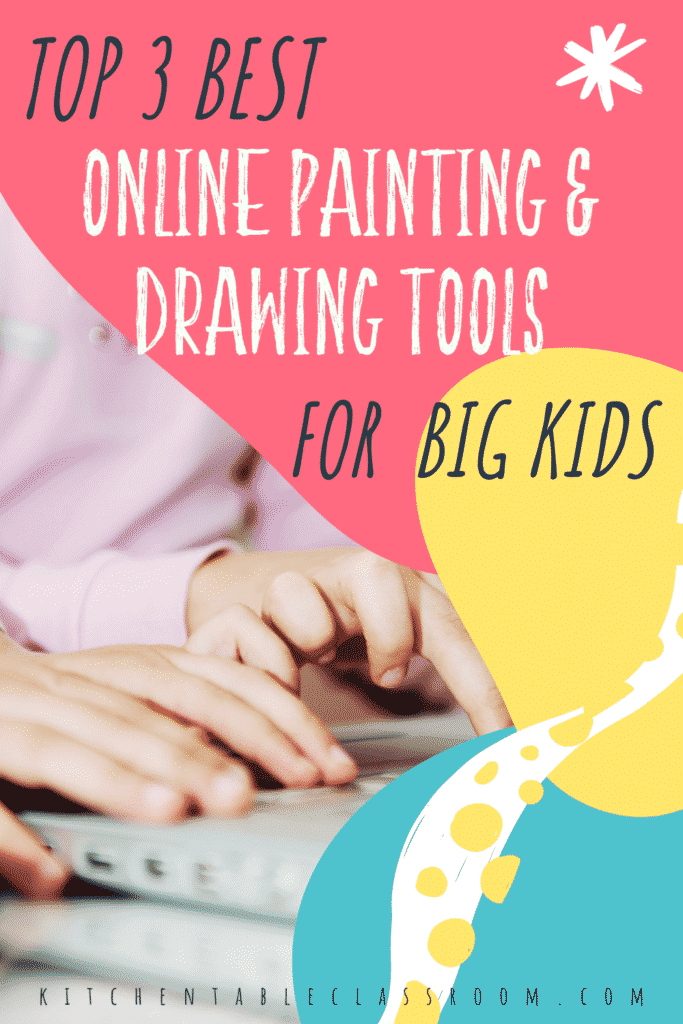 Top three best online painting and drawing tools for kids
