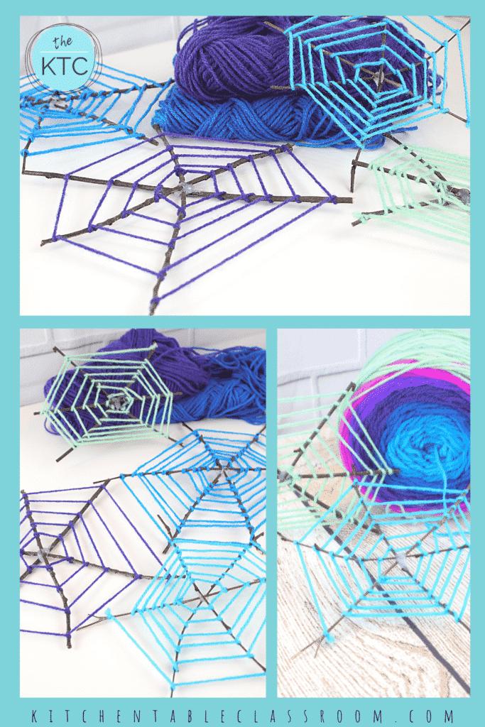 How to make a twig spiderweb, spider craft