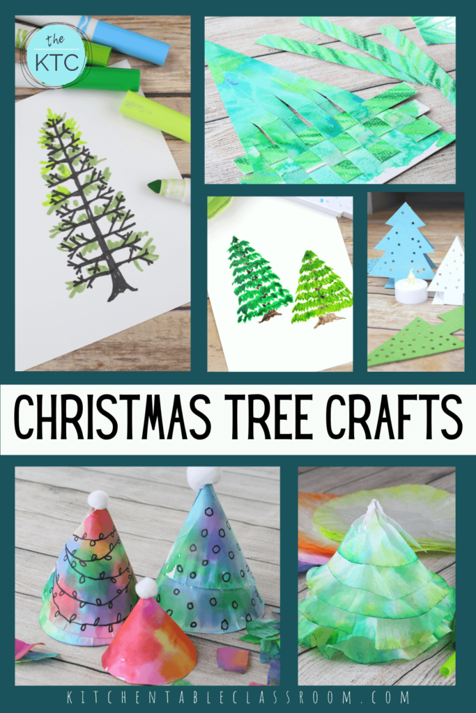 collection of Christmas tree crafts for kids