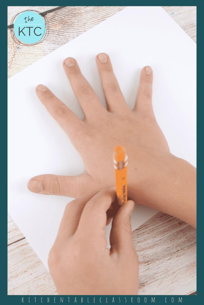 How to draw a hand turkey