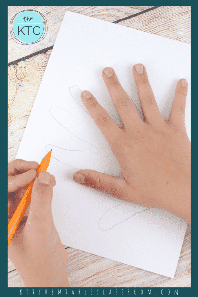 How to draw a hand turkey for kids