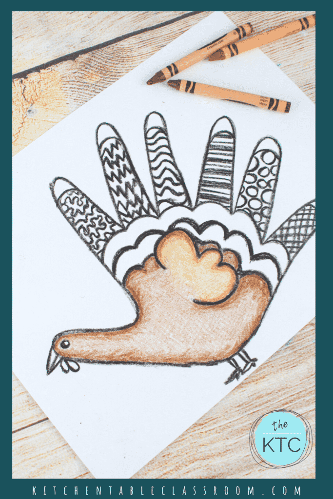 Easy turkey drawing for kids with full directed drawing video art lesson