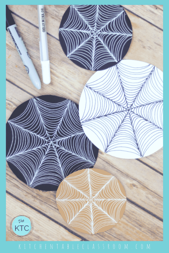 How to draw a spider web, spider craft