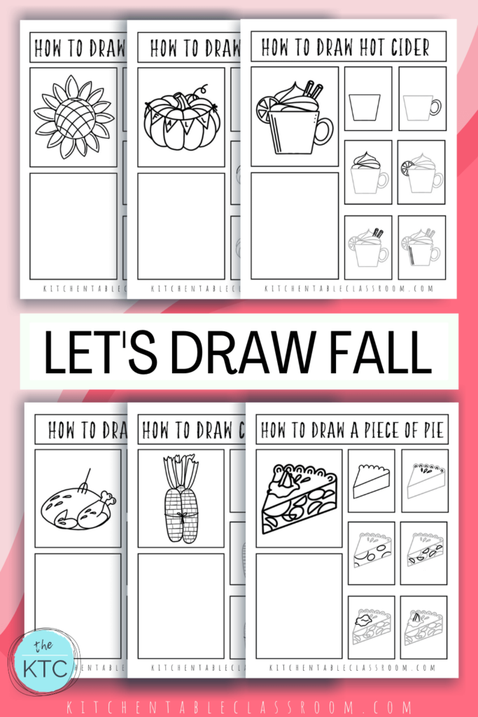 easy things to draw for fall, printable drawing tutorials