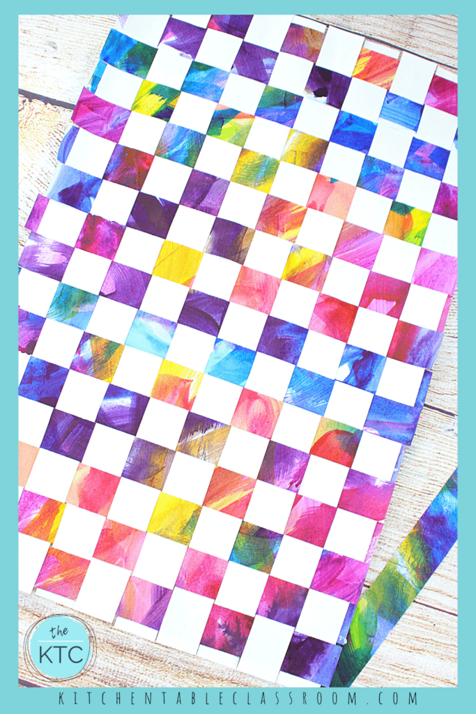 Make a fun homemade woven placemat from up-cycled painted papers