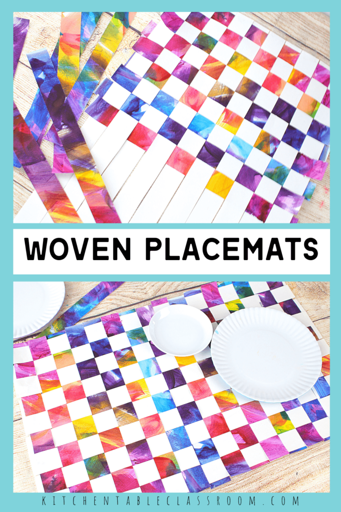 how to make woven paper placemats