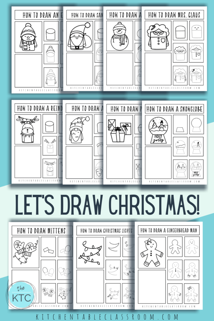 This collection of Christmas drawings for kids includes a collection of eleven Christmas things to draw.