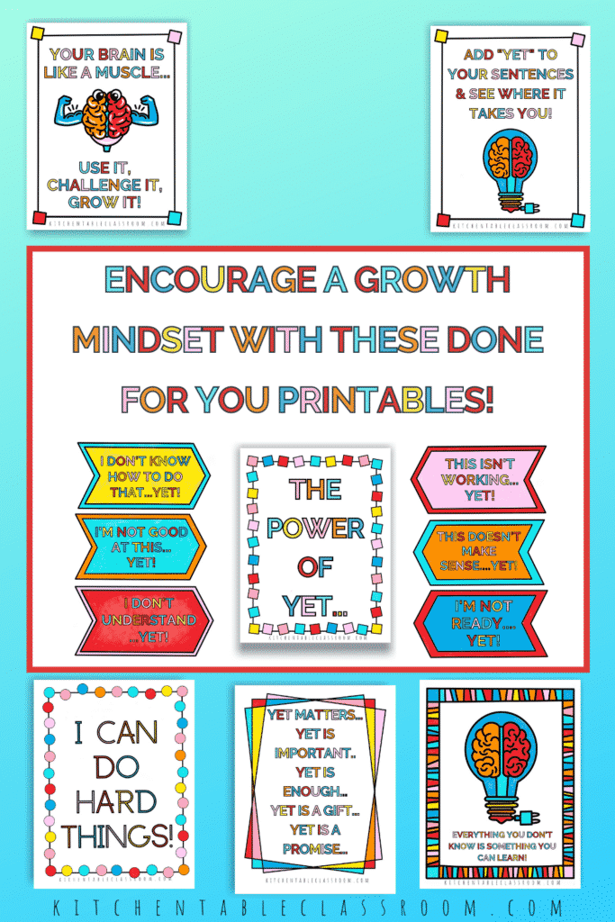 10 growth mindset posters for classroom display