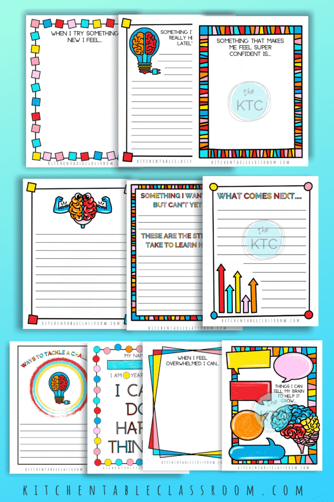 ten printable growth mindset journal quotes
