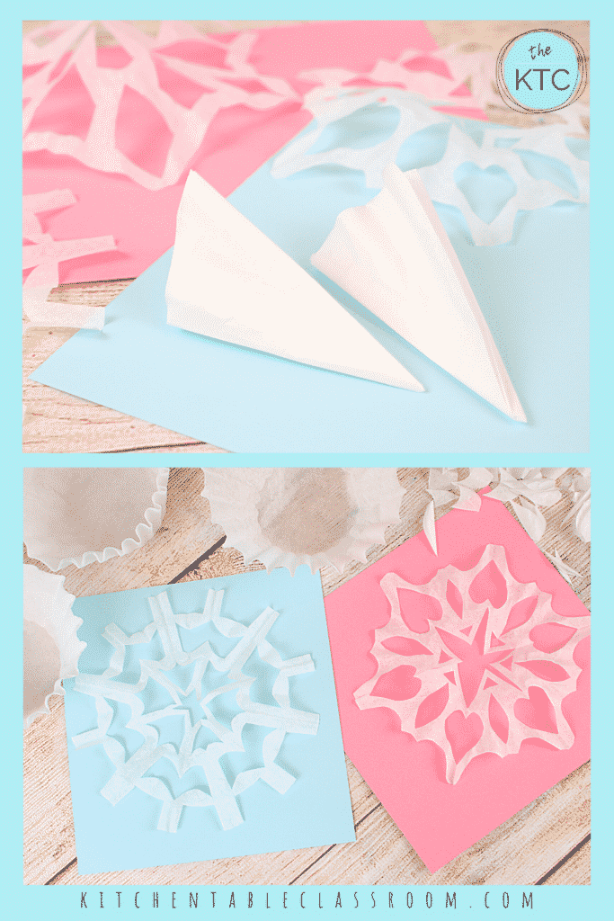 Learn how to cut a snowflake with six sides.