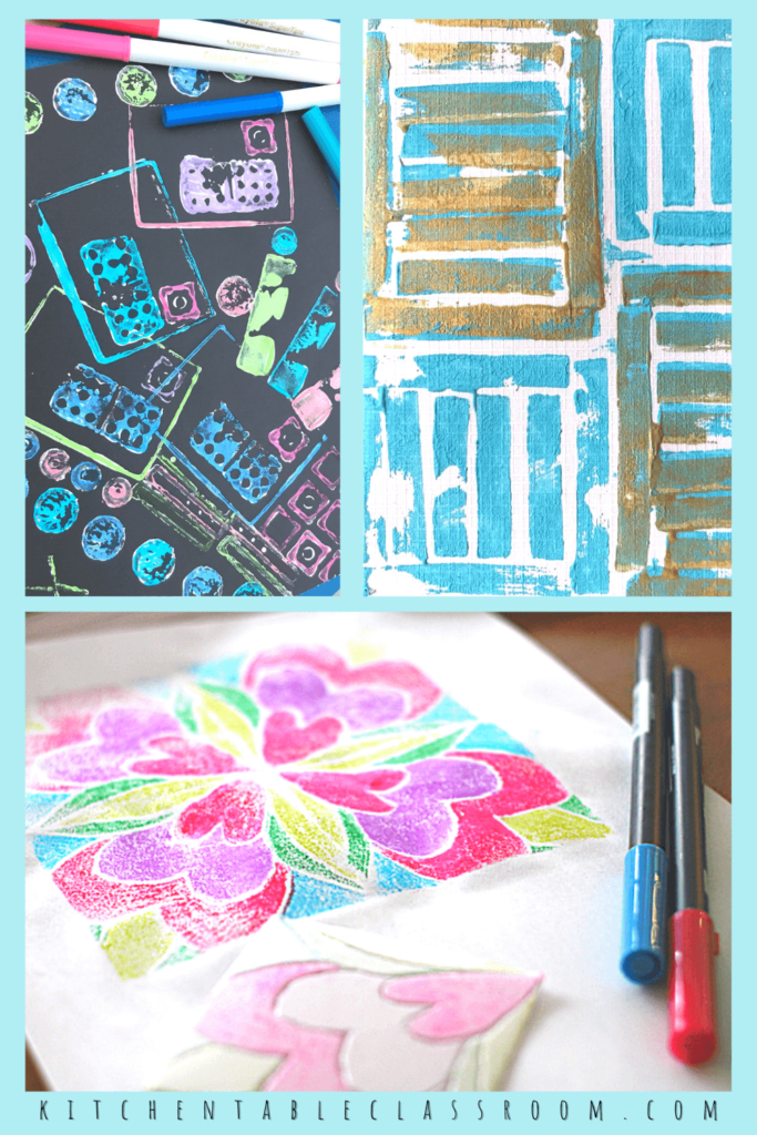 Printmaking processes that use use recycled materials
