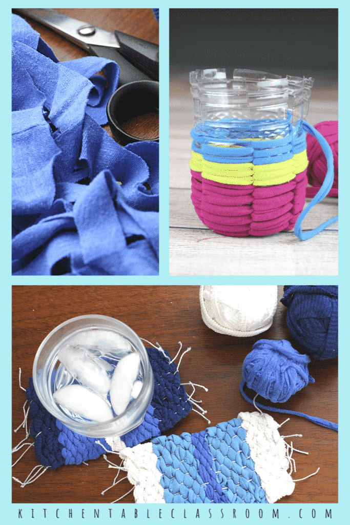 Kids crafts from recycled t-shirt material