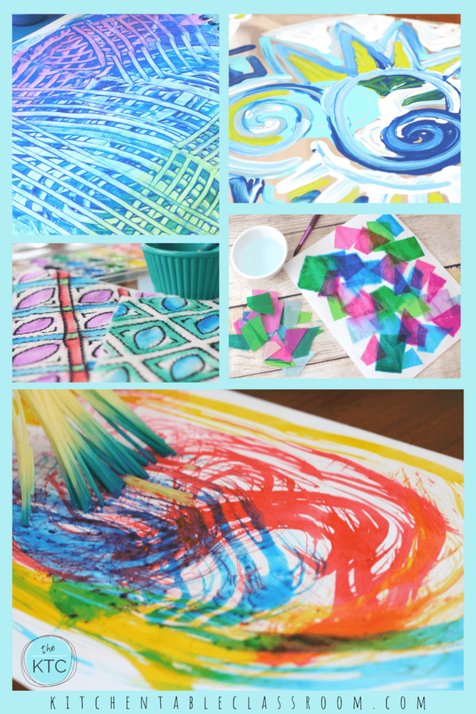 Kinder art lessons that are all about process-engage your child's senses and enjoy these kindergarten art activities