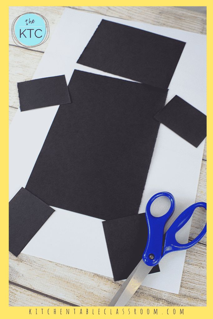 Use simple shapes to make a robot