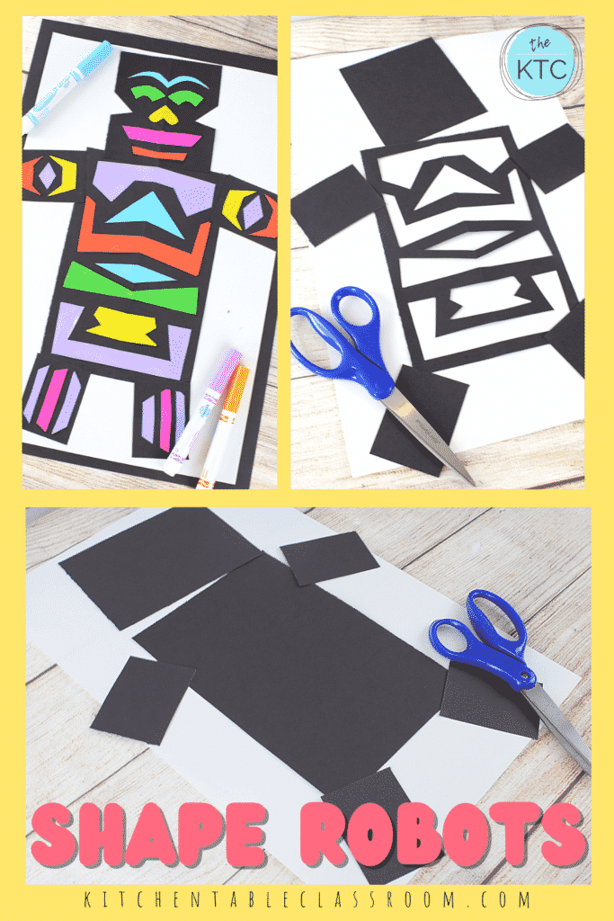 These shape robots are a great invitation to talk about shapes and their relationships to each other.