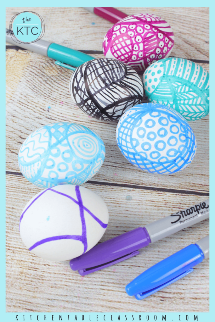 Zentangle Easter eggs focus on pattern and color.