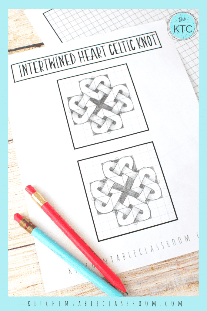Learn how to draw a heart Celtic knot with this step by step video drawing lesson and printable drawing guide.