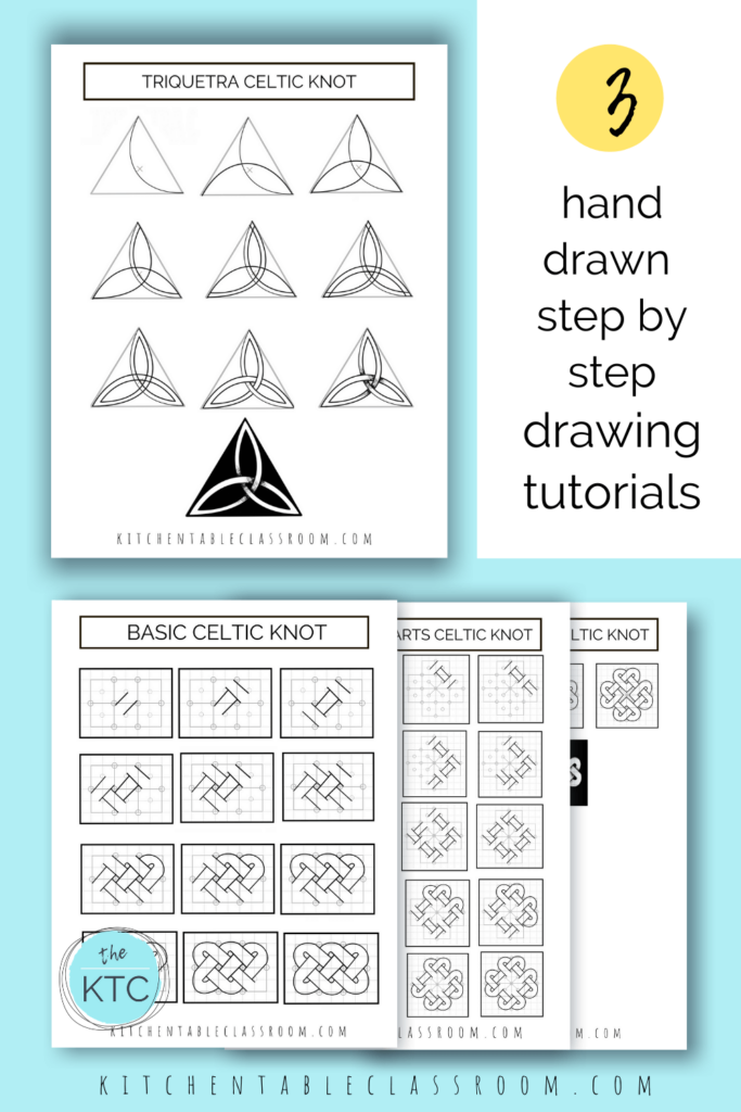 Printable step by step illustrations make learning hw to draw a Celtic knot a snap!