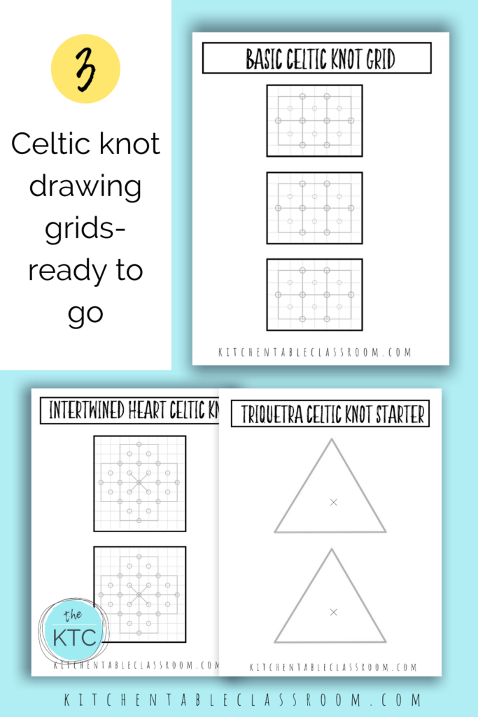 Printable drawing guides make learning how to draw a Celtic knot easy!