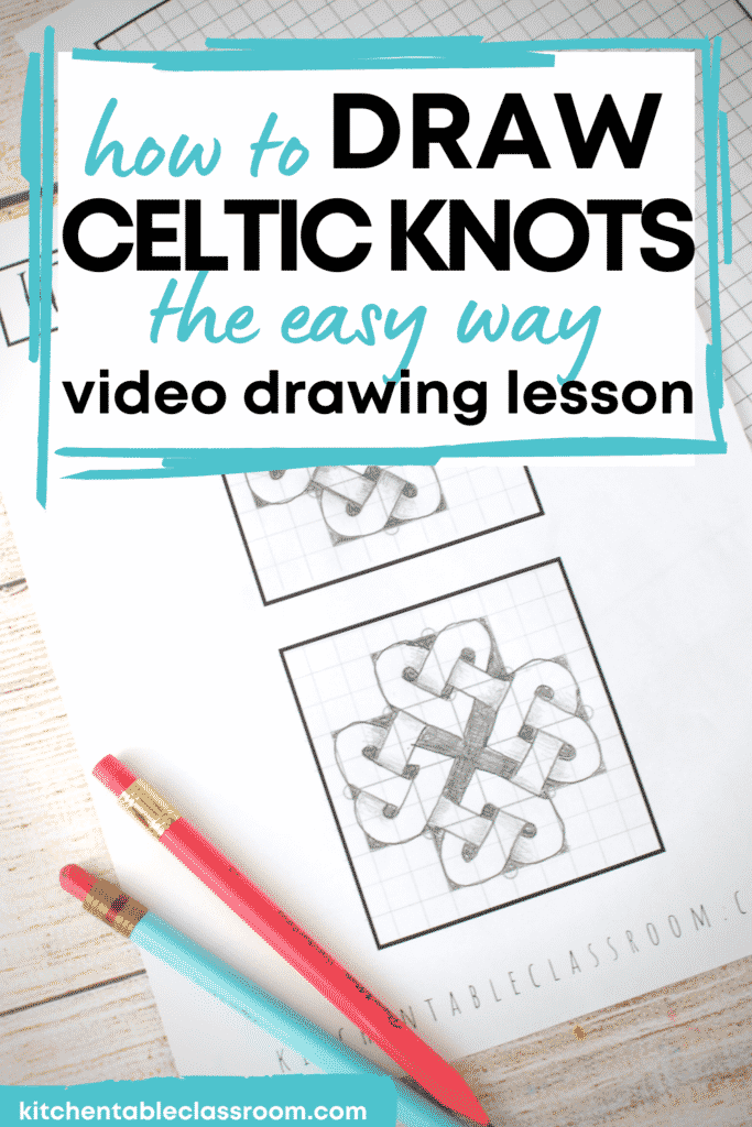 Learn how to draw Celtic knot the easy way- with video drawing lessons and printable step b step illustrations.