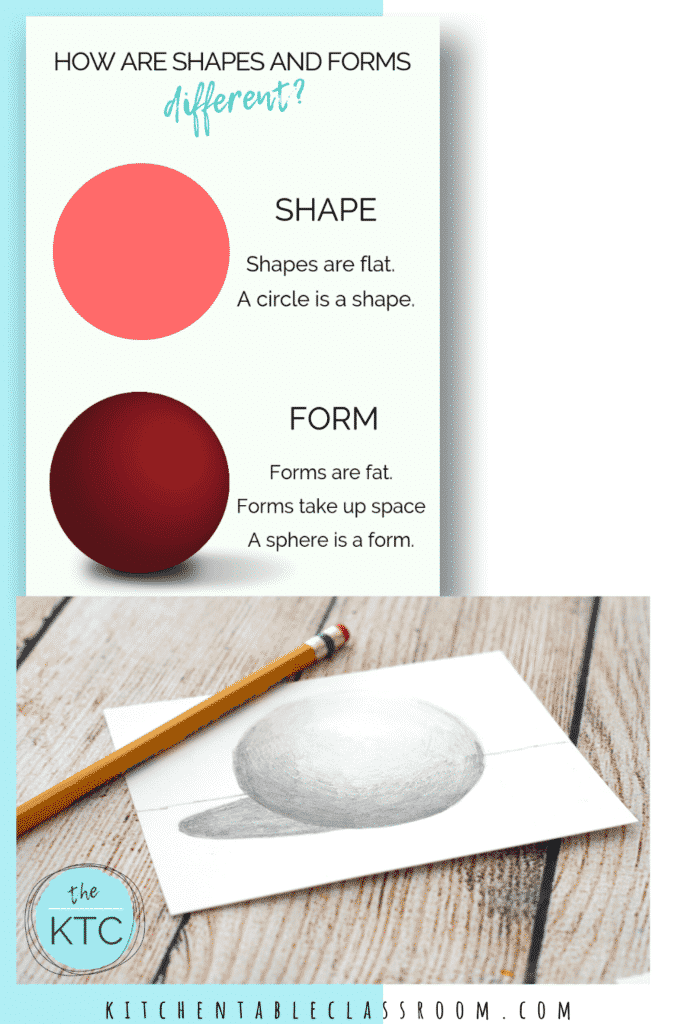 Learn the pencil skills needed to make a simple shape appear to be a three dimensional form.