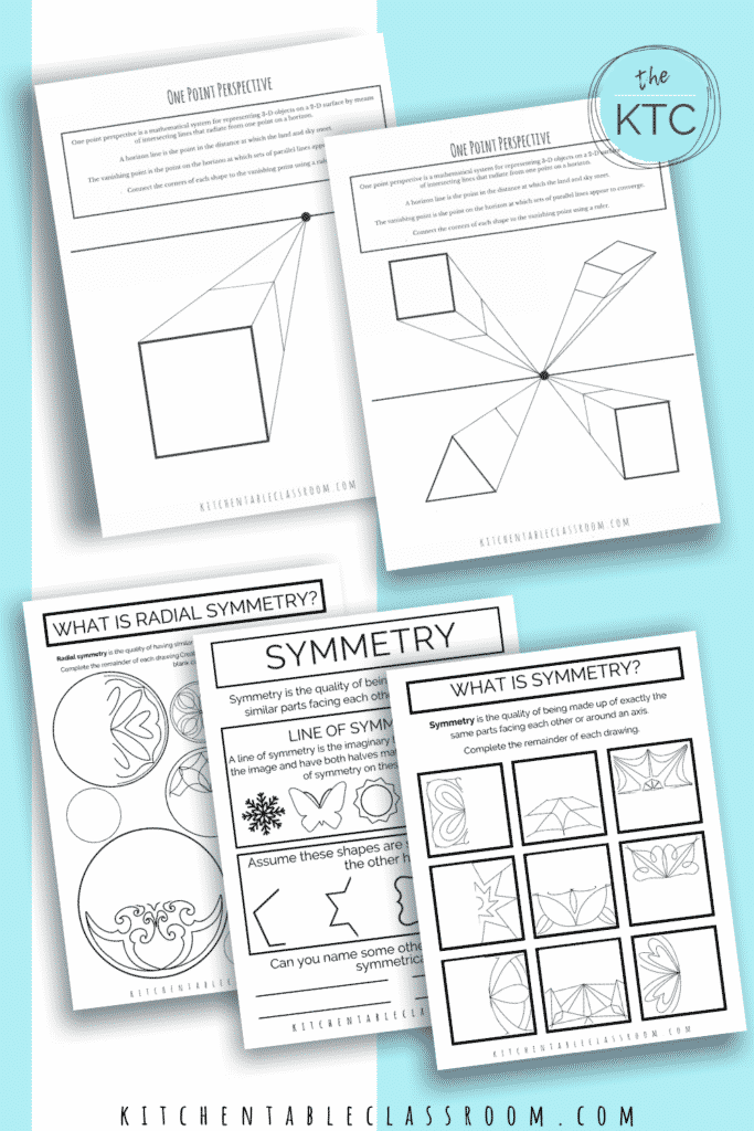 Learn about one point perspective and symmetry- all you need is a pencil!