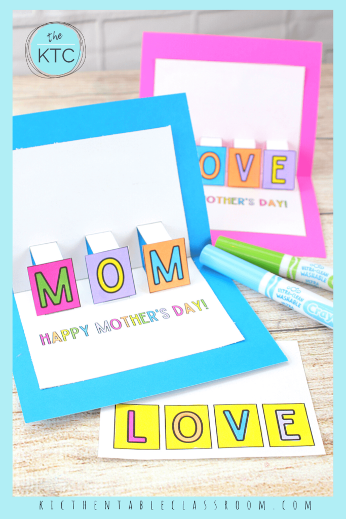 free printable Mother Day cards for kids