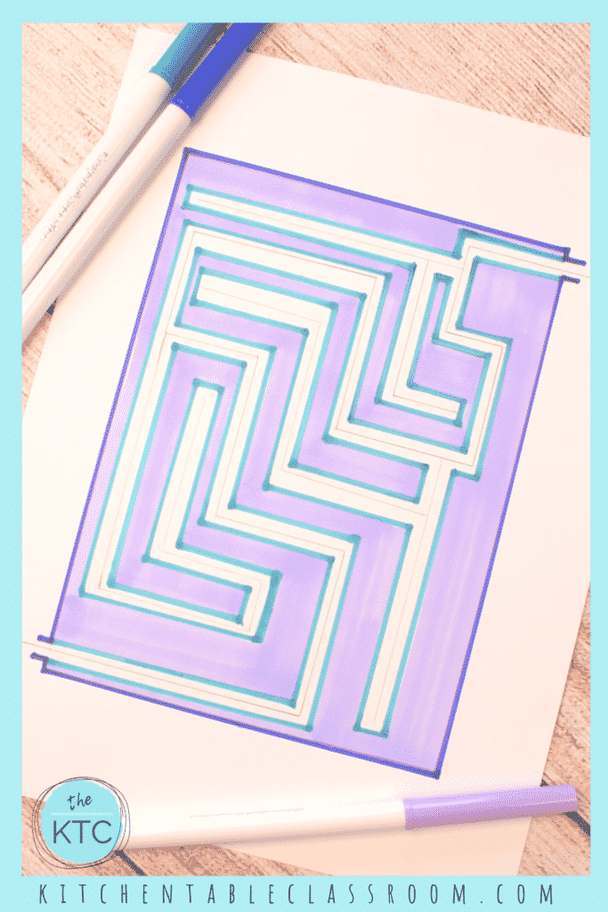 Draw your own maze with pencil or markers!