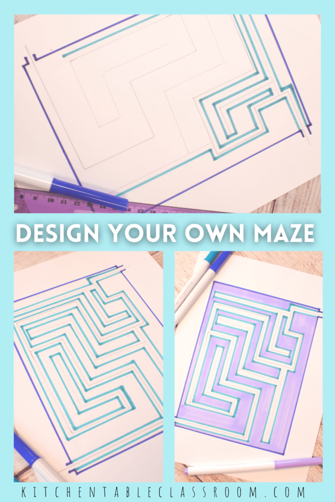 It's easy to draw your own maze with these simple directions!