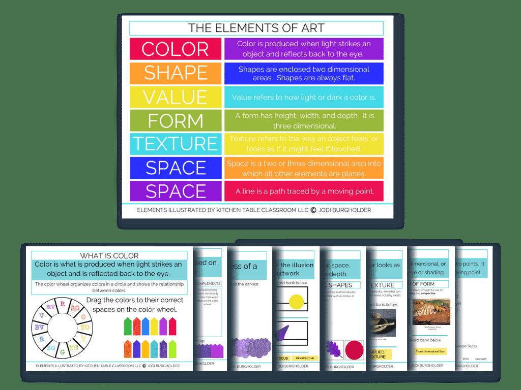 elements of art Google Slides activities