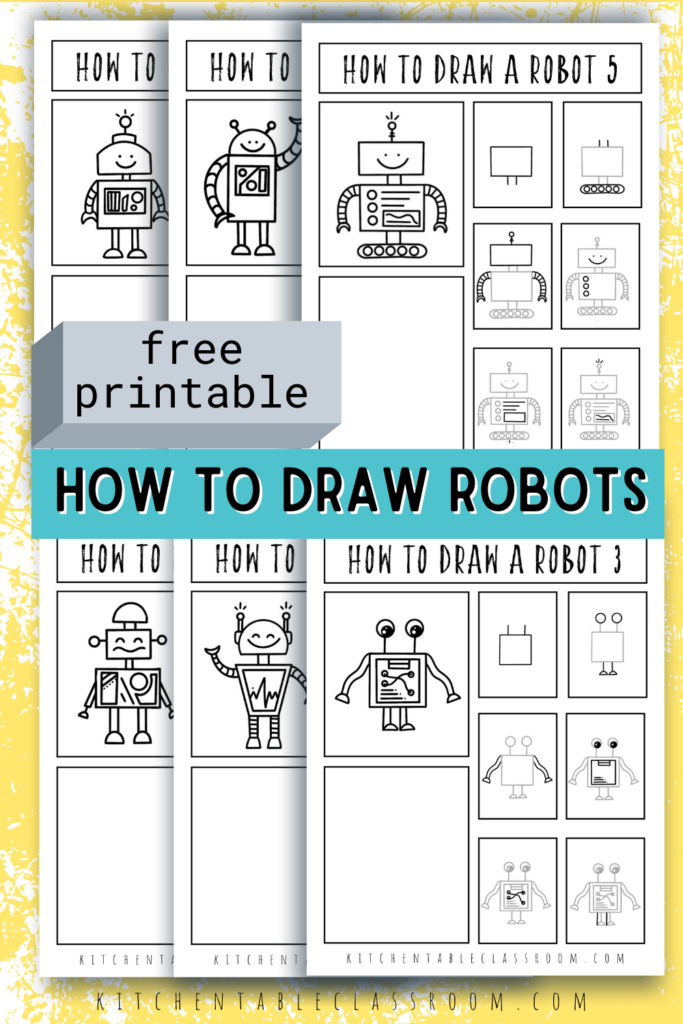 Draw robots with these six different robot drawing tutorials.